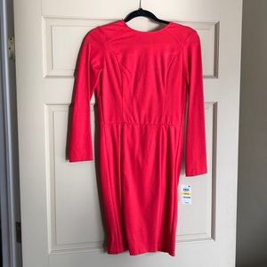 bar III long sleeve fitted dress